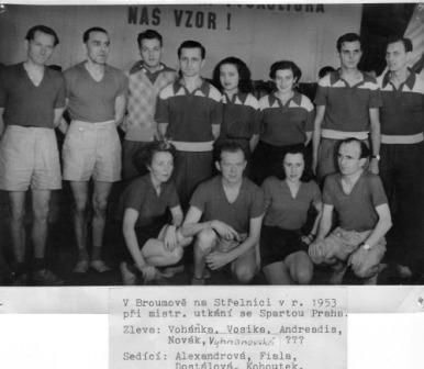 Střelnice 1953 Sparta Praha