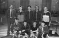 40 výročí zápas se Spartou Praha:zleva:Vyhnanovský,Zobač,Kleprlík,Gombarčík,Fiala,sedící:Laboutka,Sýkora,Panský,Suchánek